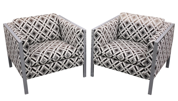 Pair Milo Baughman Chairs 1S
